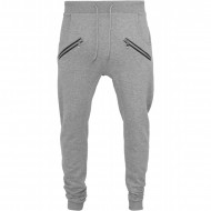 Urban Classics - Zip Deep Crotch Sweatpants grey