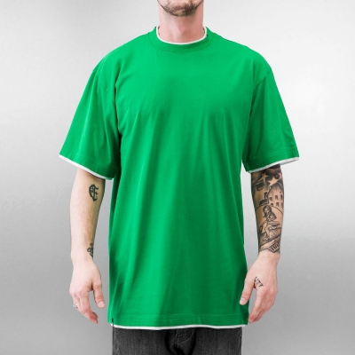 Just Rhyse And Friends Two Tone Tall Tee Cyber Green/White