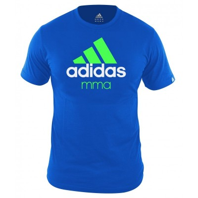 Adidas Community MMA T-Shirt lightblue/fluogreen