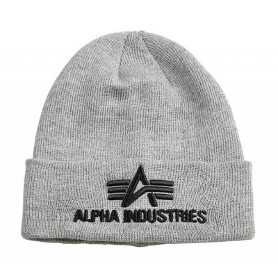 Alpha Industries 3D Beanie grey heather