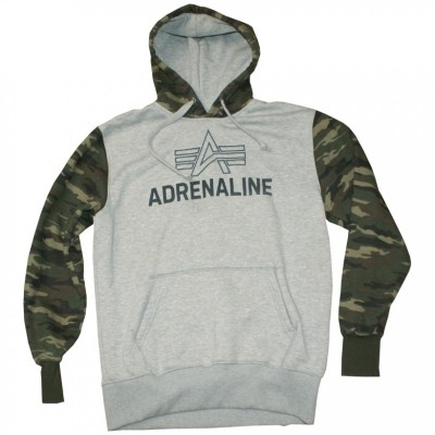 Alpha Industries - Adrenaline Hoody grau