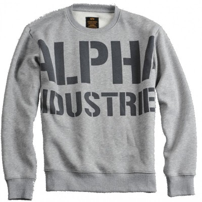 Alpha Industries - All Over Sweater grey heather