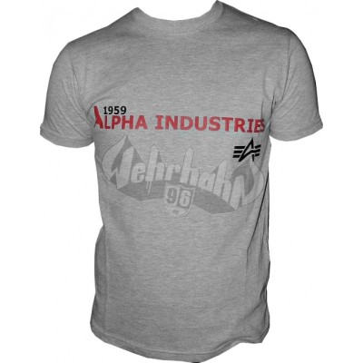Alpha Industries Basic Shirt Print 14 grau