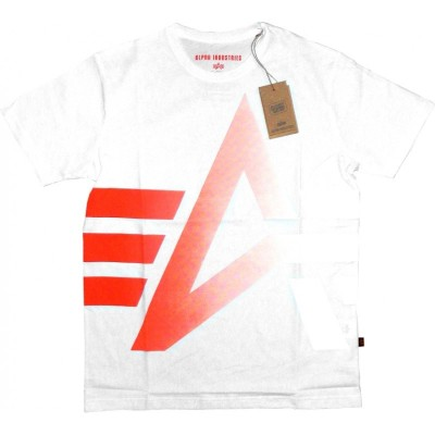 Alpha Industries Basic Shirt Print 15 weiß/orange