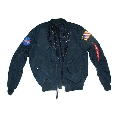 Alpha Industries Bomberjacke MA-1 TT NASA Reversible rep. blue