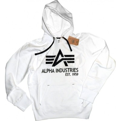 Alpha Industries Hoodie Big A Classic weiss