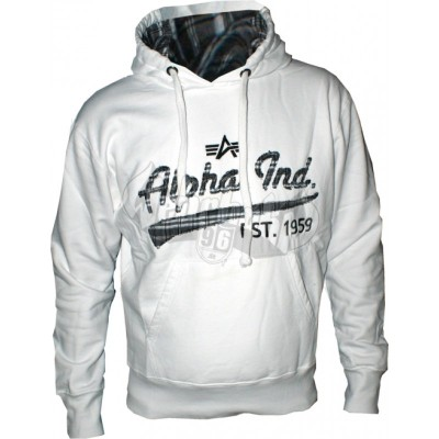 Alpha Industries Hoodie Ckd Applikation weiss