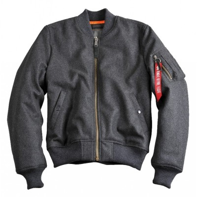 Alpha Industries - MA-1 Wool Bomberjacke dark grey