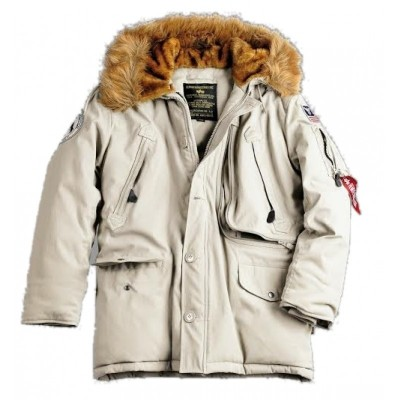 Alpha Industries - Polar Winterjacke off white