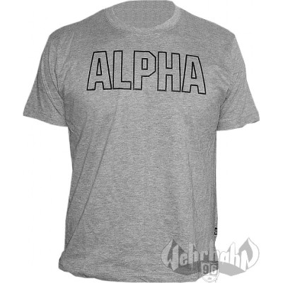 Alpha Industries Track T-Shirt grau