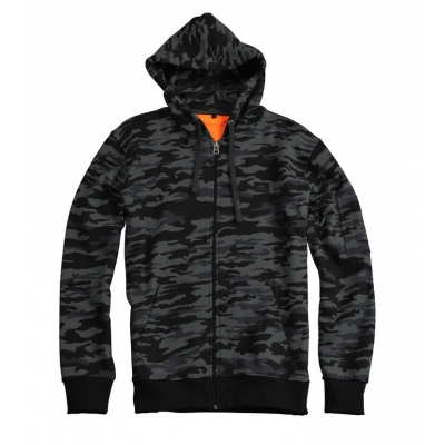Alpha Industries X-Fit Black Camo Zip Hoodie