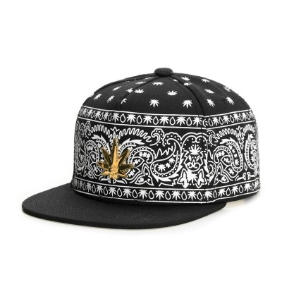 Cayler & Sons Green Label - Hazely Snapback Cap black/white/gold