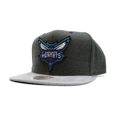 Charlotte Hornets Cation Perforated Suede Snapback | NBA | Mitchell & Ness