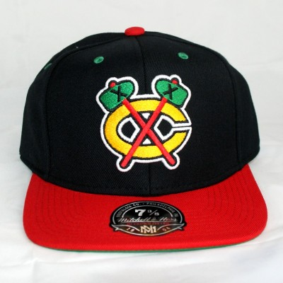 Chicago Blackhawks Fitted Cap High Crown | NHL | Mitchell & Ness
