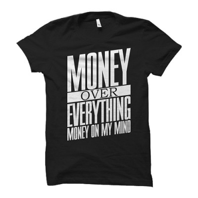 Cocaine Casino - Money Over Everything U-Neck Shirt schwarz