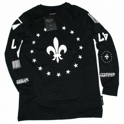 Criminal Damage Longsleeve Fleur Star Black/White (SALE)