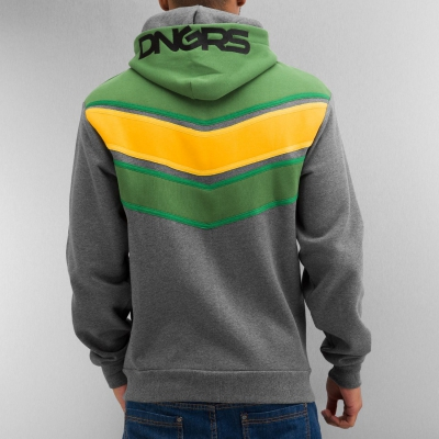 Dangerous DNGRS Three Tone Zip Hoody Charcoal Melange/Treetop/Gold Fusion/Treetop