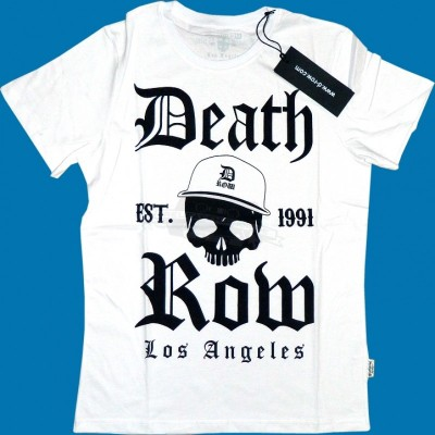 Deathrow Shirt Skull weiss (SALE)