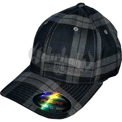 Flexfit Cap Tartan Plaid black/grey