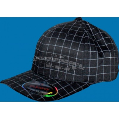 Flexfit Plaid Cap schwarz