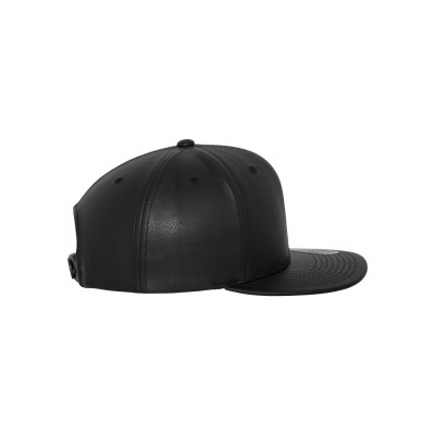 Full Leather Imitation Snapback Cap