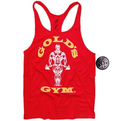 Golds Gym Stringer Tank Top Classic Red