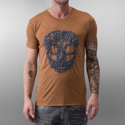 Just Rhyse And Friends Big Skull T-Shirt Mustard