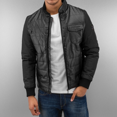 Just Rhyse And Friends Open Leather Jacket Black