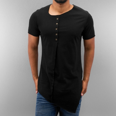 Just Rhyse Button T-Shirt Black