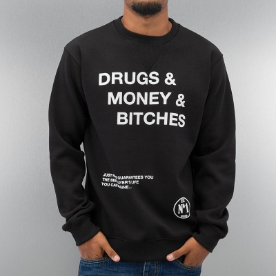Just Rhyse Drugs Sweatshirt Black