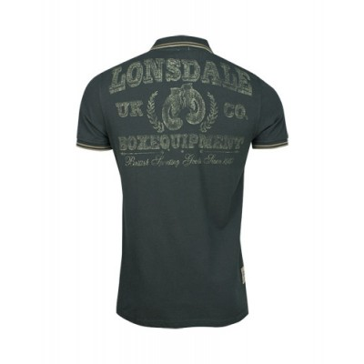 Lonsdale Slim Fit Polo Shirt Jim anthrazit