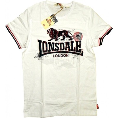 Lonsdale Slim Fit T-Shirt Carrybridge weiss