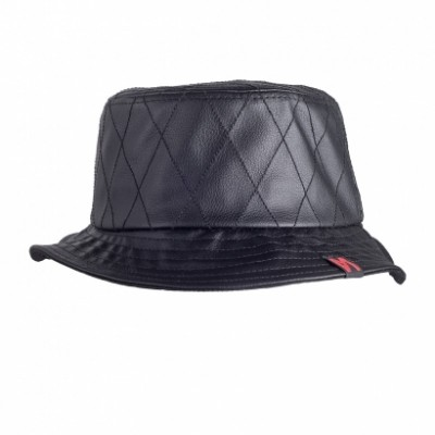 Maskulin - QUILTED Bucket Hat black