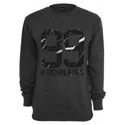 Mister Tee - 99 Problems Crewneck old marble