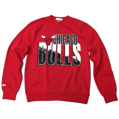 Mitchell & Ness - Chicago Bulls Scribble Fill Crewneck rot