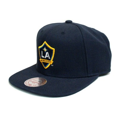 Mitchell & Ness Los Angeles Galaxy Wool Solid Snapback Navy