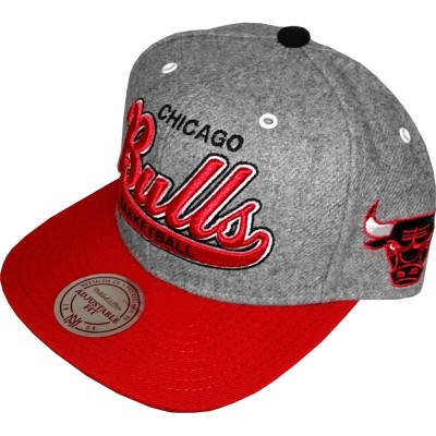 Mitchell & Ness - Snapback Cap Chicago Bulls Vintage grey/red