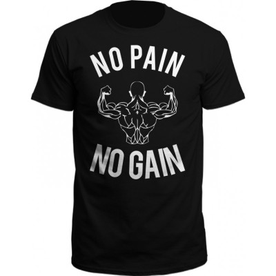 NPNG No Pain No Gain T-Shirt schwarz/wei�