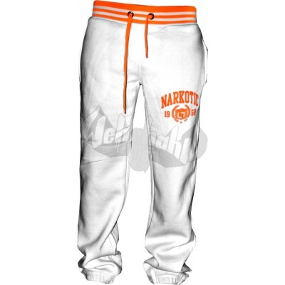 Narkotic Wear - Athletic Dept Pant weiß/neonorange