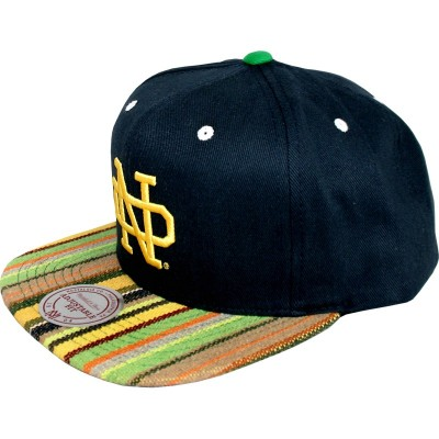 Notre Dame Fighting Irish Snapback Native Stripe Navy | NCAA | Mitchell & Ness
