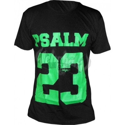 Psalm 23 - Big 23 Green T-Shirt schwarz