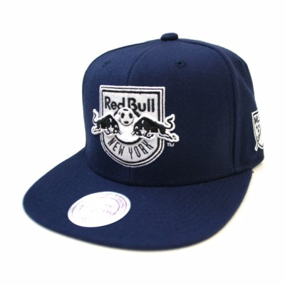 Red Bull New York Black and White Team Base Snapback | MLS | Mitchell & Ness