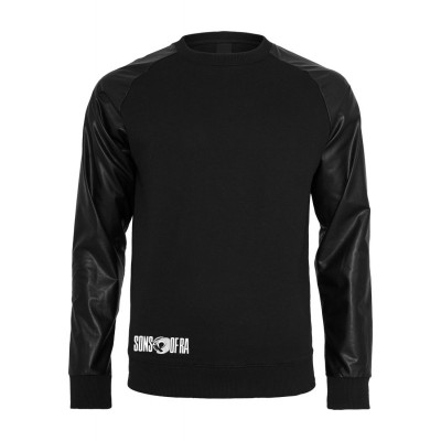 Sons of Ra - Raglan Leather Imitation Sweater blk/blk