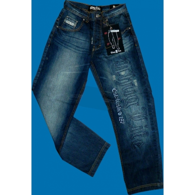 Thug Life Jeans Old English Group Mid Sand Blue (SALE)
