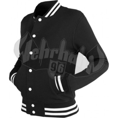 Urban Classics - Ladies College Sweatjacket schwarz