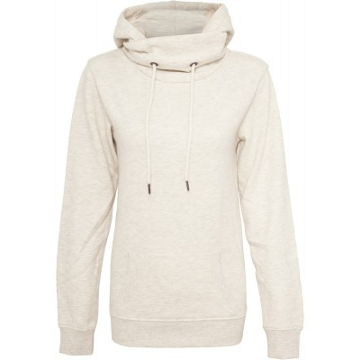Urban Classics - Ladies High Neck Hoodie offwhite
