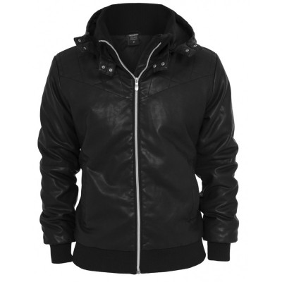 Urban Classics - Leather Imitation Jacke schwarz