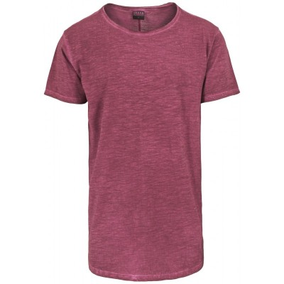 Urban Classics - Long Back Shaped Spray Dye Tee burgundy