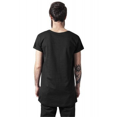 Urban Classics - Long Shaped Side Zip Tee black