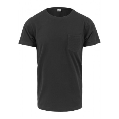 Urban Classics - Quilted Pocket Tee black/black